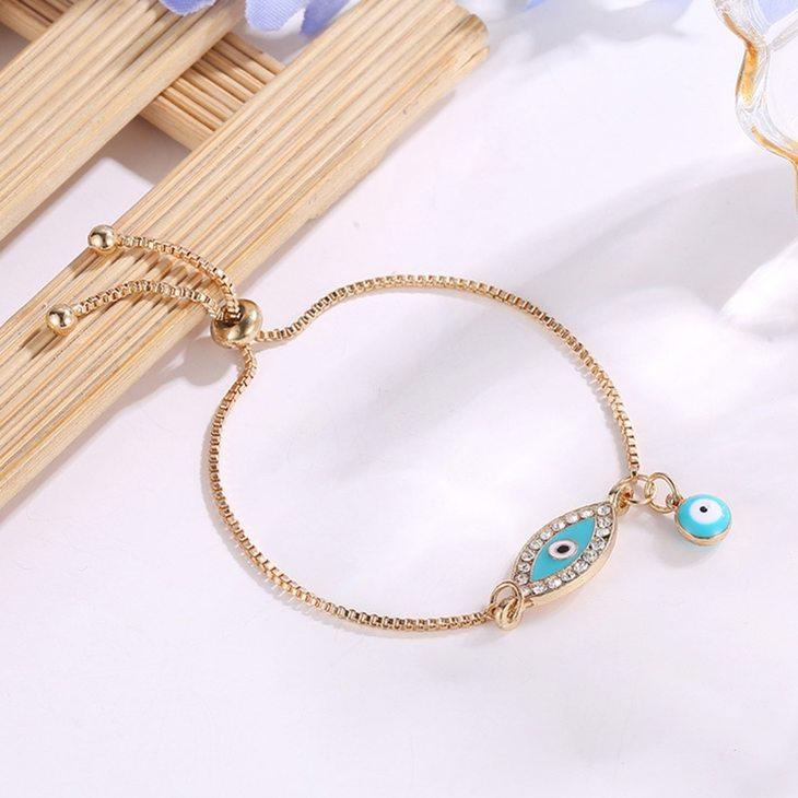 Turquoise Evil Eye Bracelet - Picture 2