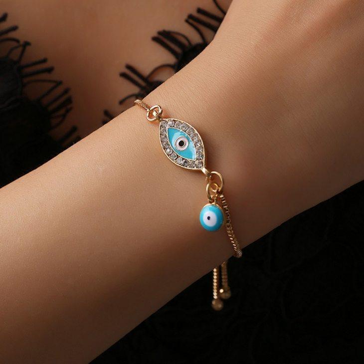 Turquoise Evil Eye Bracelet - Model