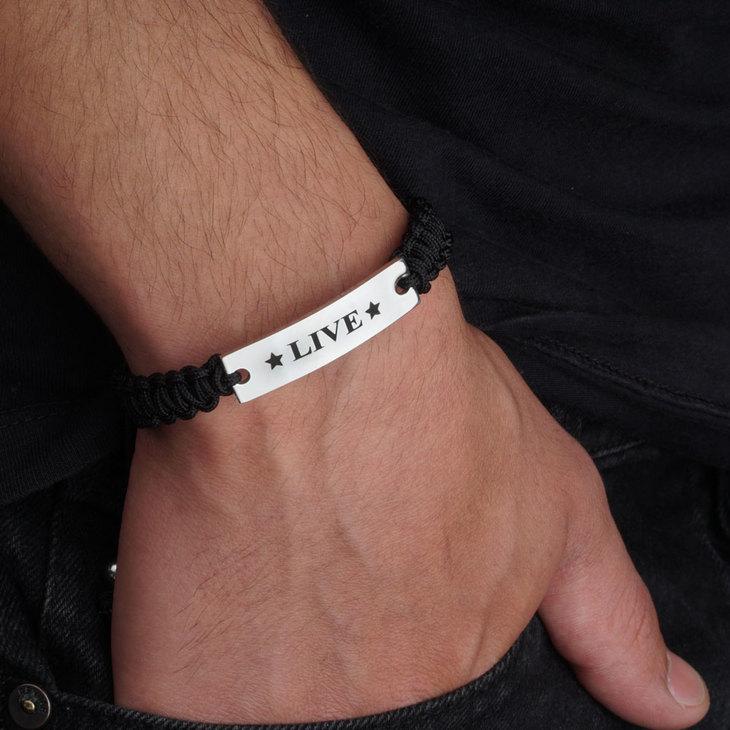 Men ID Braided Bracelet - Model