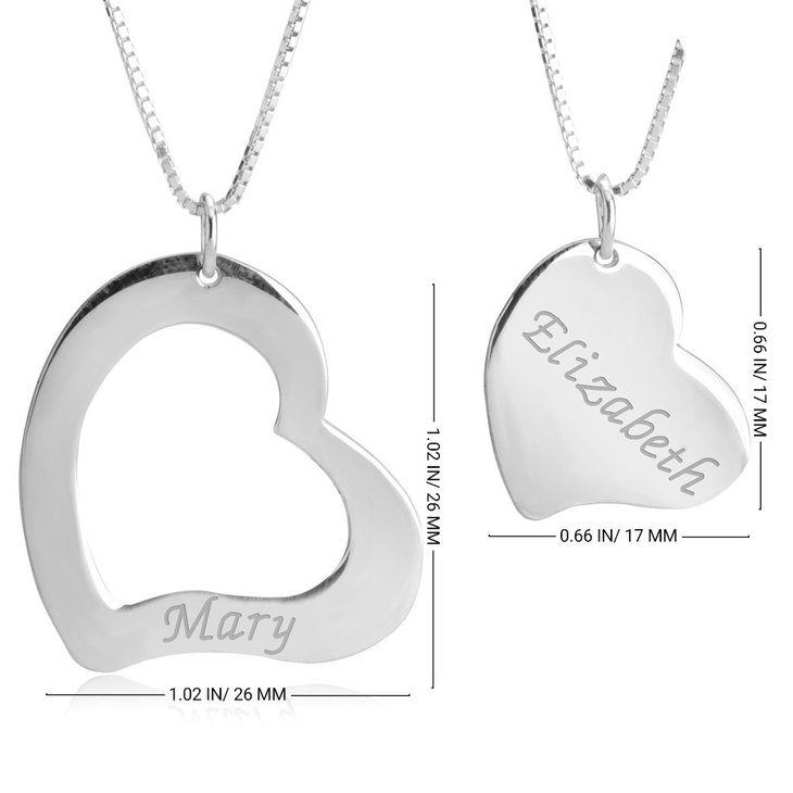 Mother Daughter Cut Out Two Necklaces - Information