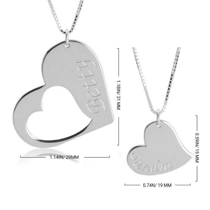 Mother Daughter Heart Necklace Set - Information