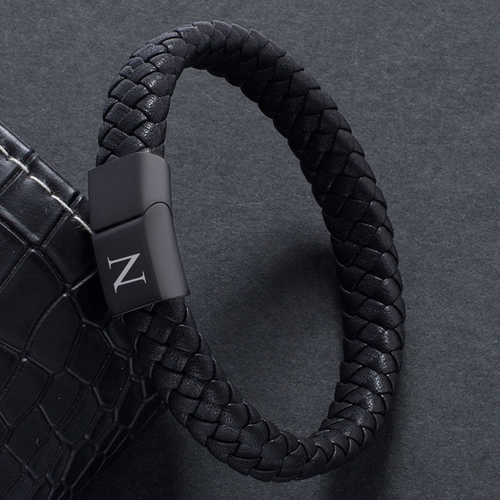 Mens Black Bracelet - Picture 2