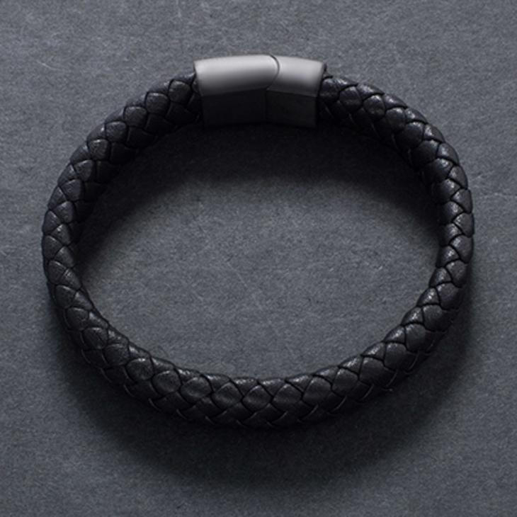 Mens Black Bracelet - Picture 3