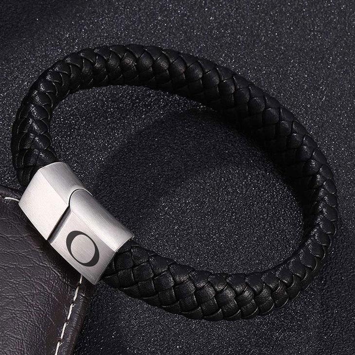 Mens Black Bracelet - Picture 7