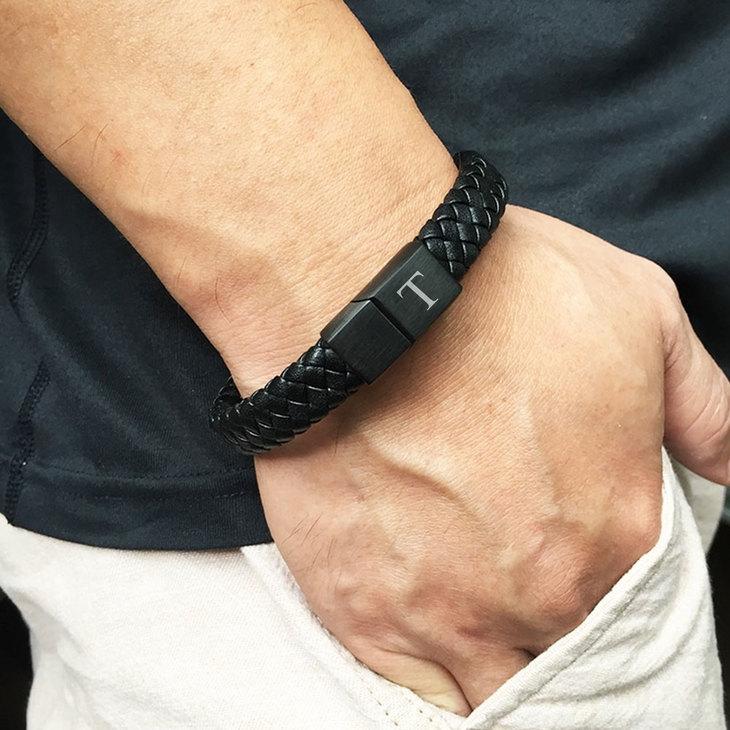 Mens Black Bracelet - Model