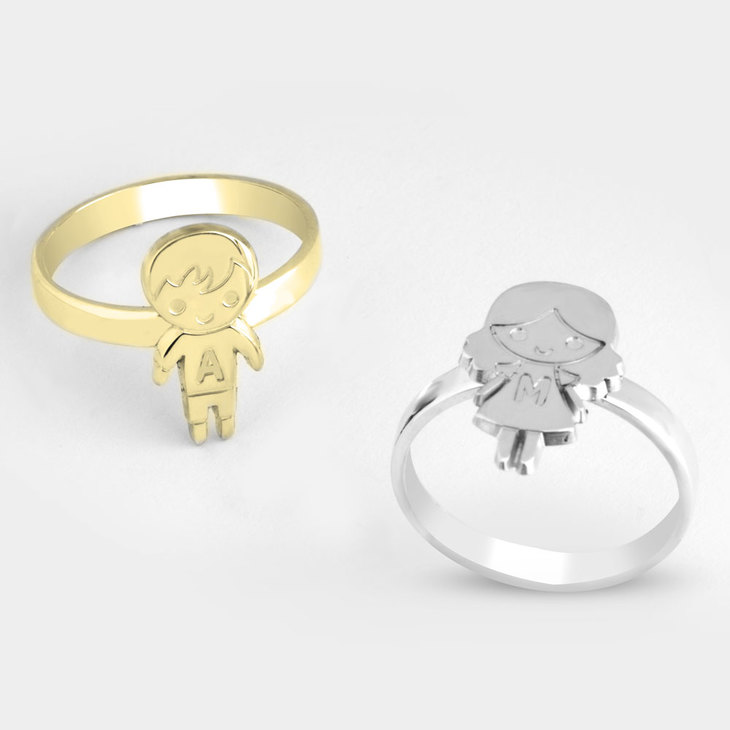 Child Ring with Initial