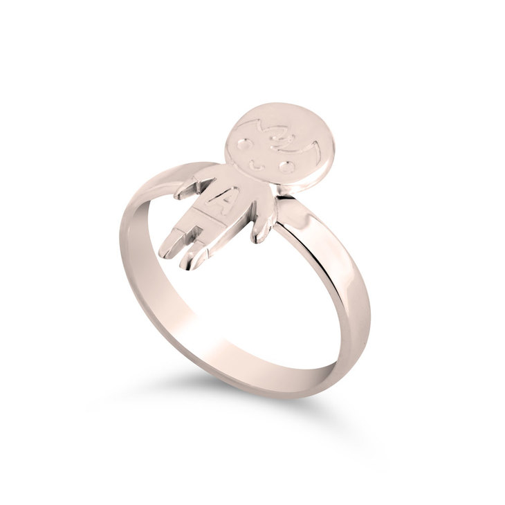 Child Ring with Initial - Picture 2