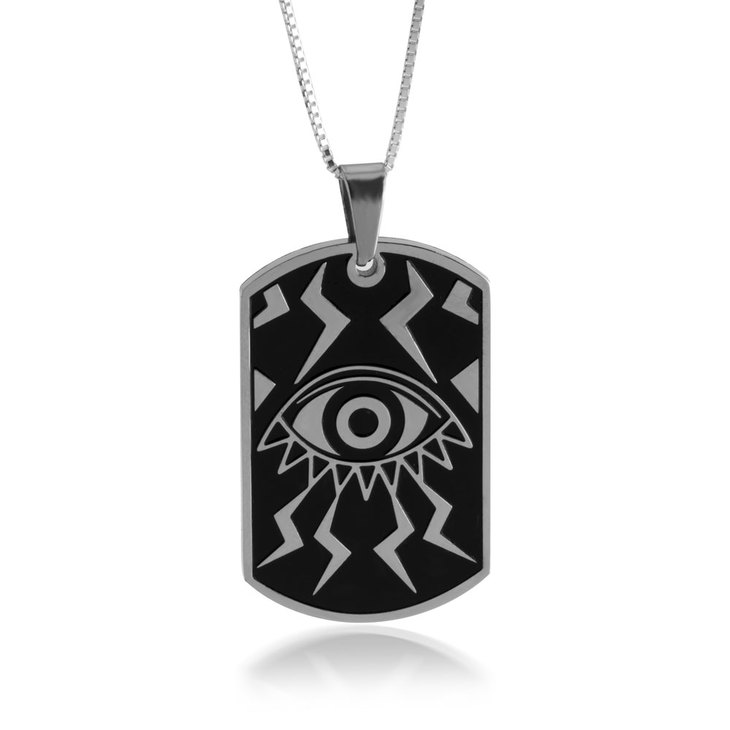 Evil Eye Dog Tag