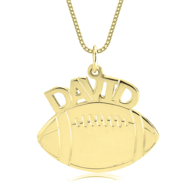Football Name Necklace