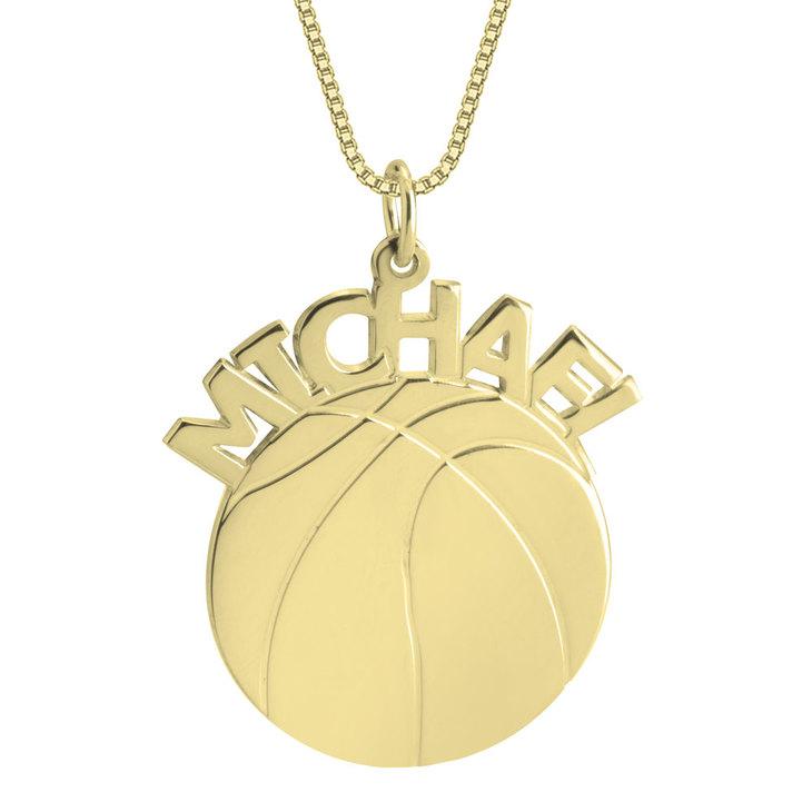 Basketball Name Necklace