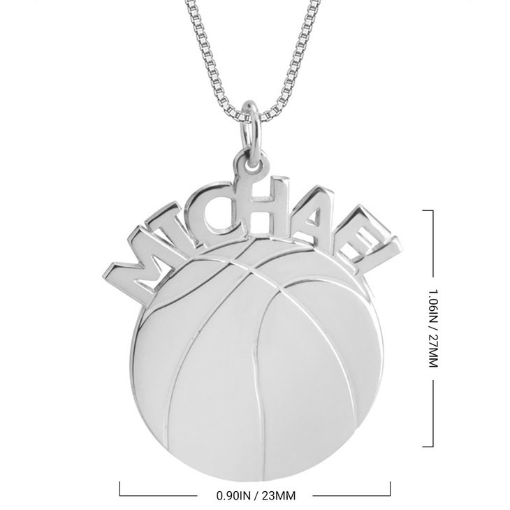 Basketball Name Necklace - Information