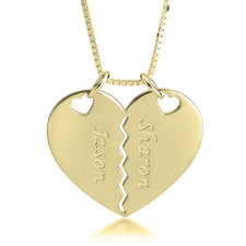 Breakable Heart Necklace for Couples