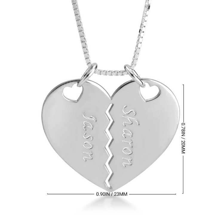 Breakable Heart Necklace for Couples - Information