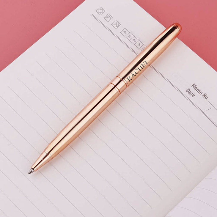 Personalized Rose Gold Pen - Picture 2