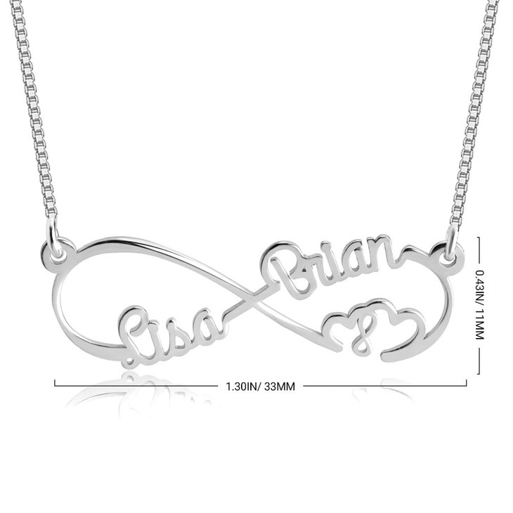 Double Heart and Double Infinity Necklace - Information