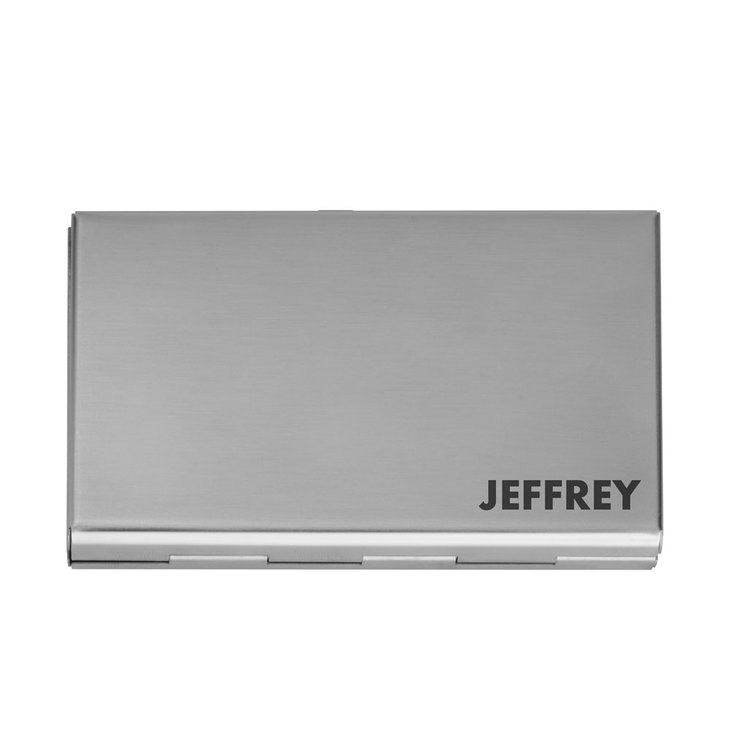 Engraved Metal Card Holder