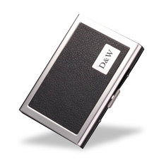 Personalised Leather & Metal Card Holder