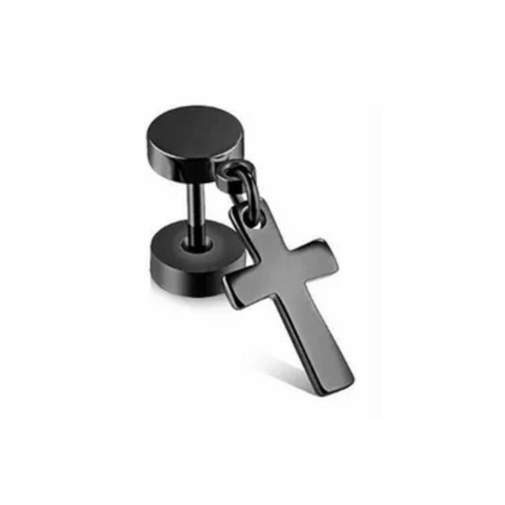 Dangle Black Cross Earrings