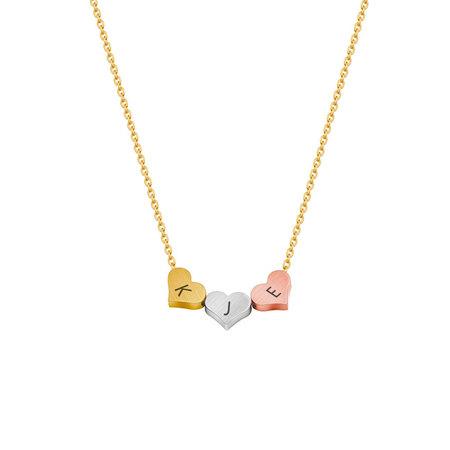 Three Tone Minimalist Necklace