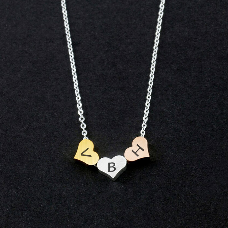 Three Tone Minimalist Necklace - Picture 2