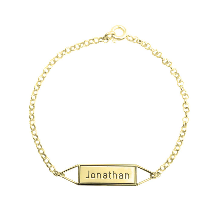 Geometric Name Bracelet