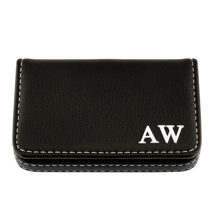 Leather Initial Card Holder