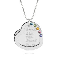 Heart Birthstone Mother Necklace