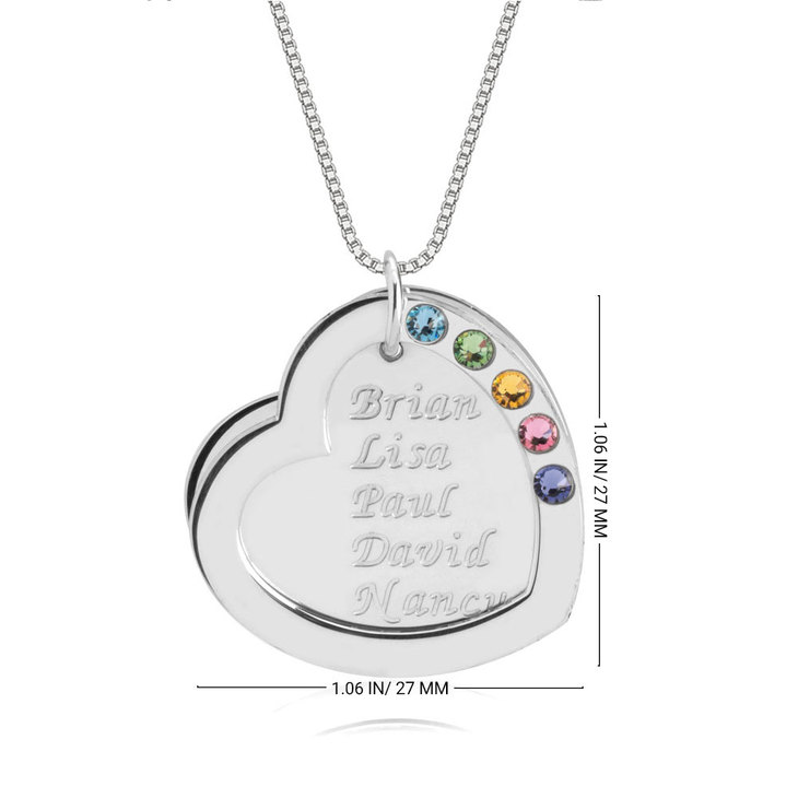 Heart Birthstone Mother Necklace - Information