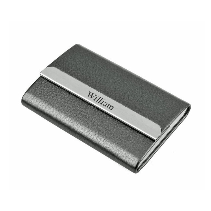 Personalized Black Card Holder
