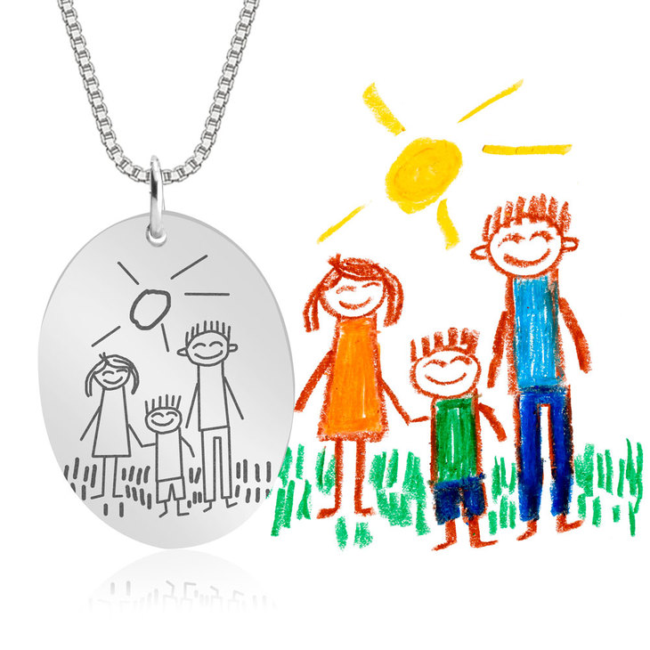 Kids Drawing Necklace - Information