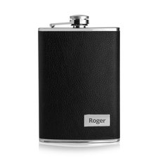 Leather Engraved Hip Flask