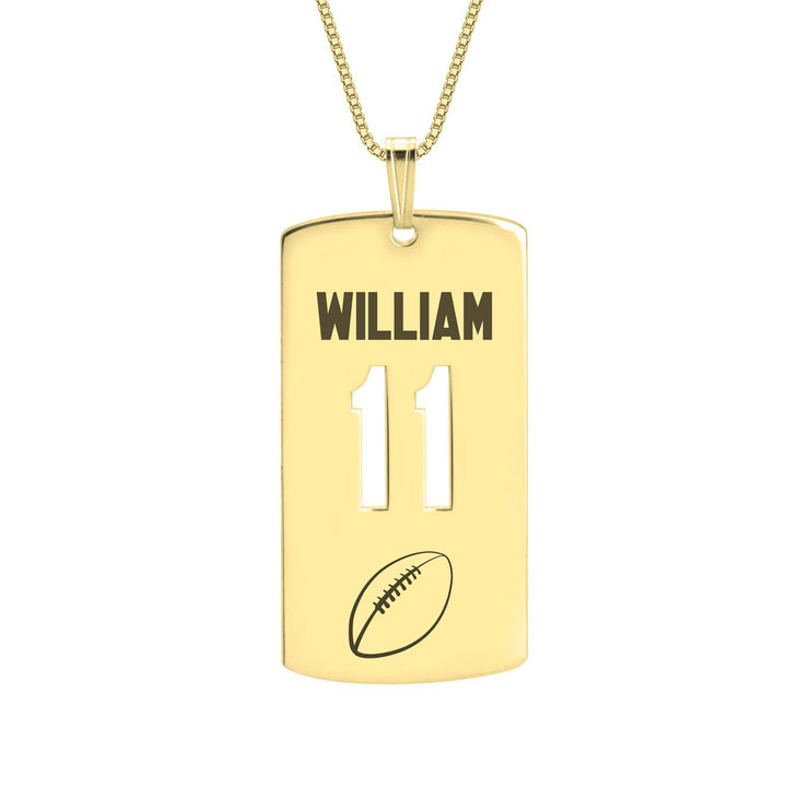 Personalized Dog Tag Sport Necklace