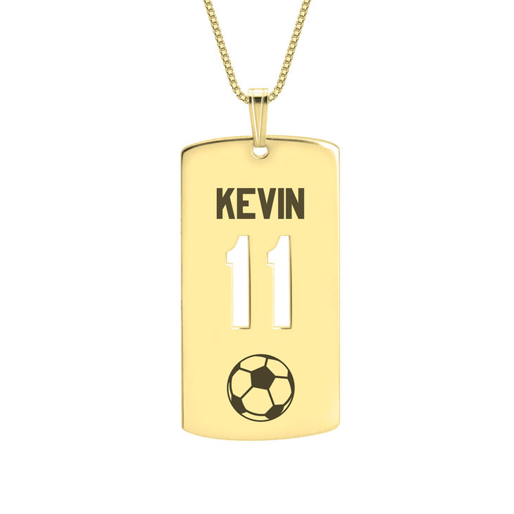 Personalized Dog Tag Sport Necklace - Picture 2