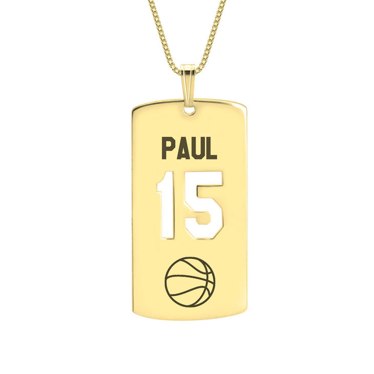 Personalized Dog Tag Sport Necklace - Picture 3