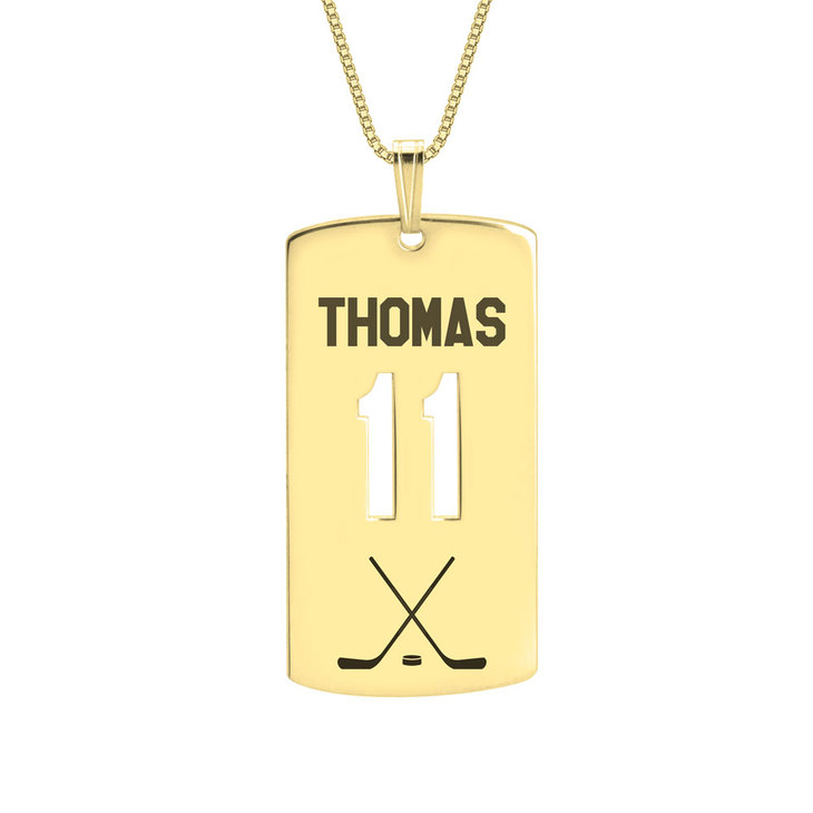 Personalized Dog Tag Sport Necklace - Picture 4