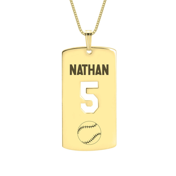 Personalized Dog Tag Sport Necklace - Picture 5