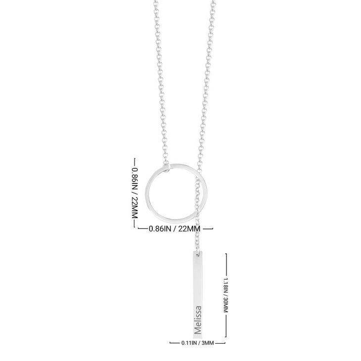 Engraved Hanging Bar Necklace - Information