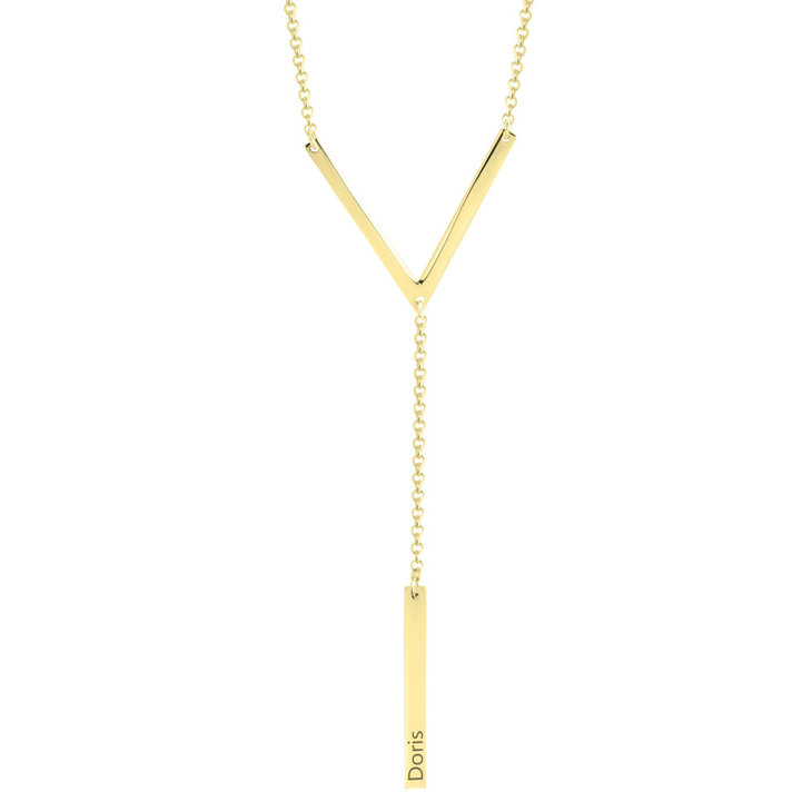 Triangle Hanging Bar Necklace