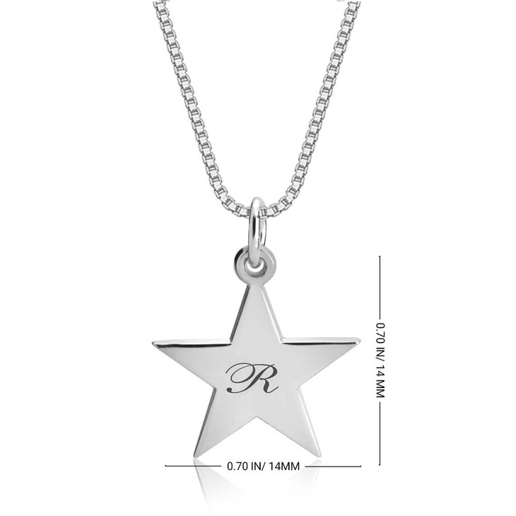 Delicate Engraved Star Necklace - Information