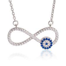 Infinity Evil Eye Necklace