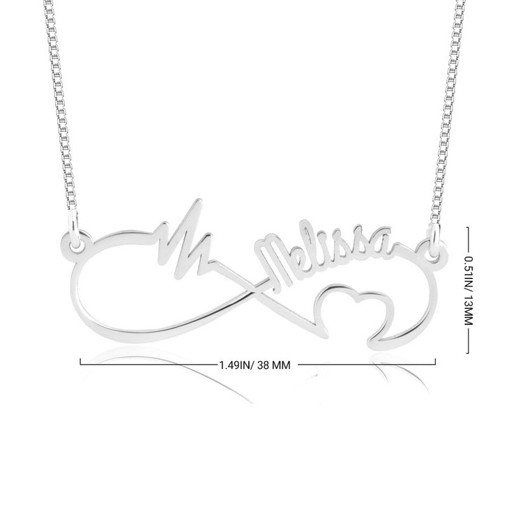Personalized Infinity Heartbeat Necklace - Information