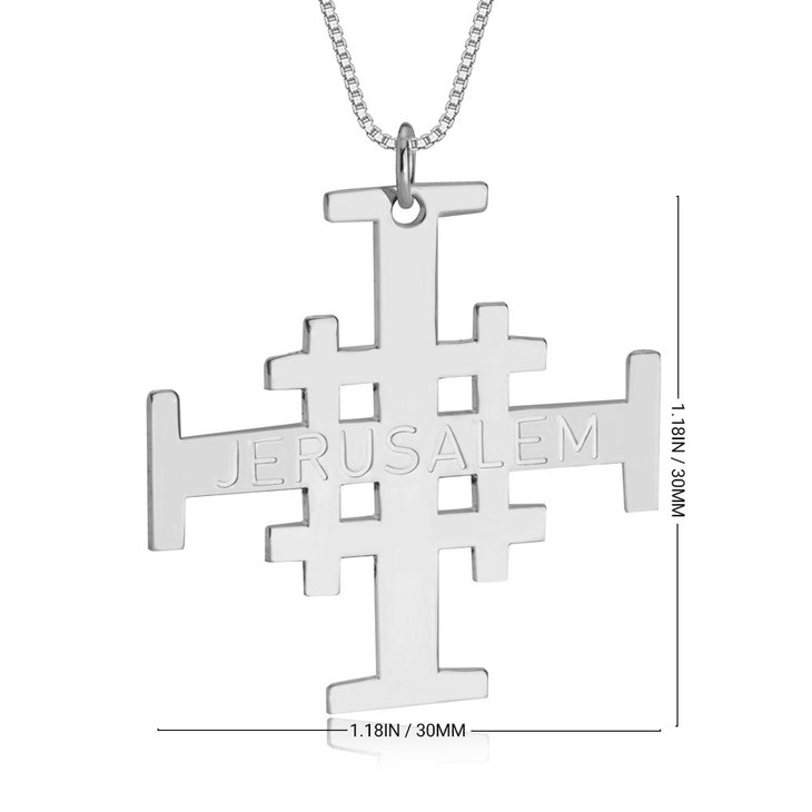 Engraved Jerusalem Cross Necklace - Information