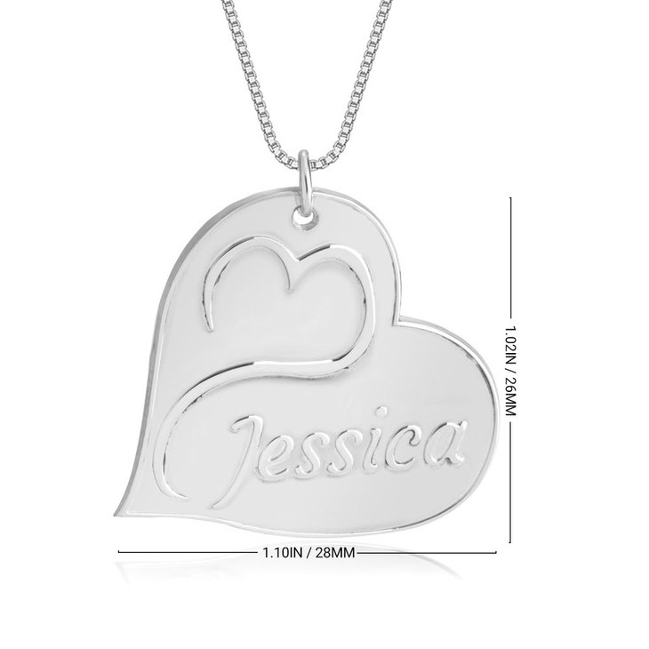 Engraved Heart Name Necklace - Information