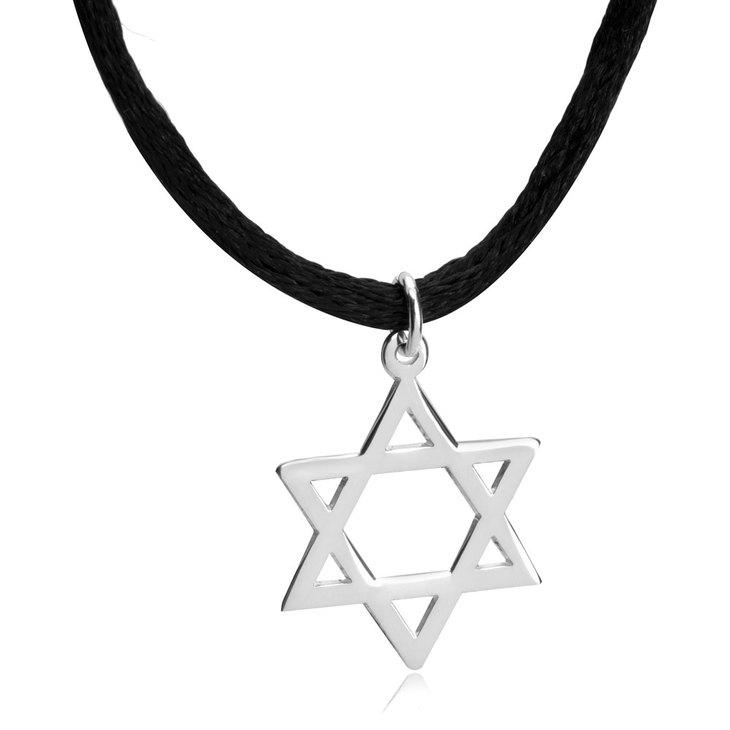 Collar Estrella de David con Cordón