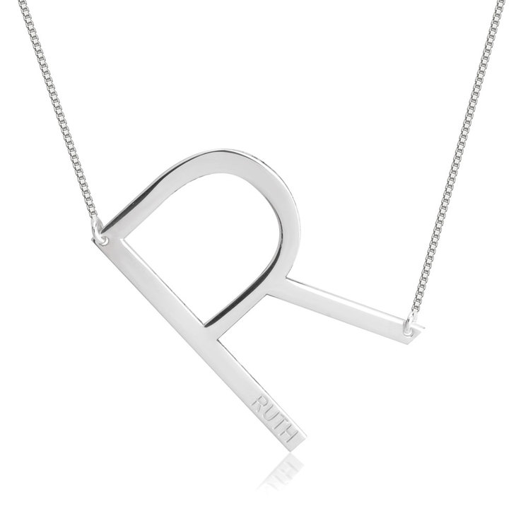 Personalized Initial Necklace - Picture 2