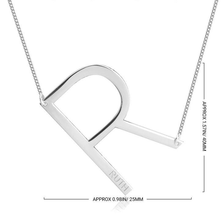Personalized Initial Necklace - Information