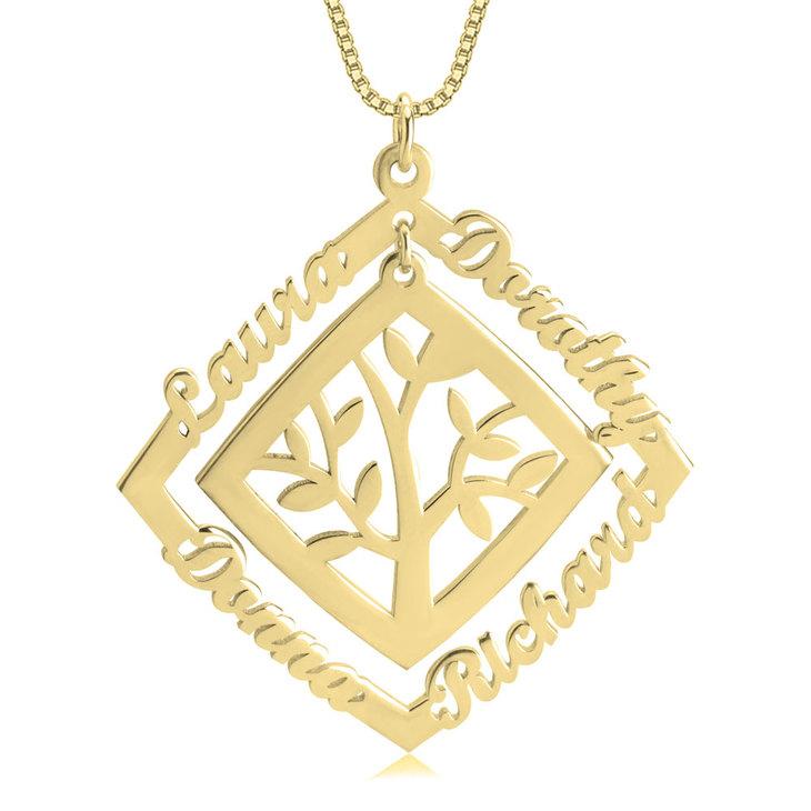 Framed Family Tree Necklace