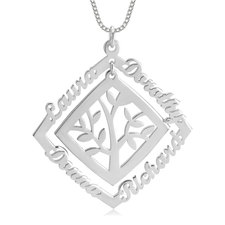 Framed Family Tree Necklace