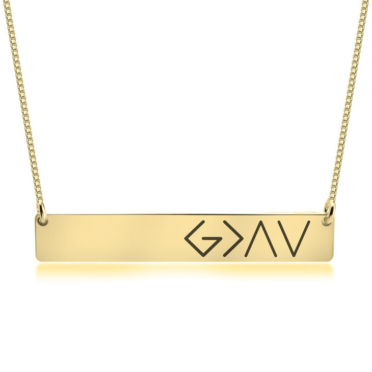 God is Greater Than the Highs and Lows Necklace - Picture 2