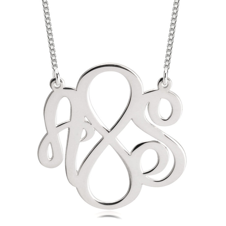 Two Initials Infinity Necklace